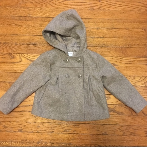 144654119 Old Navy Jackets & Coats | Toddler Girls Of Navy Hooded Peacoat Size ...